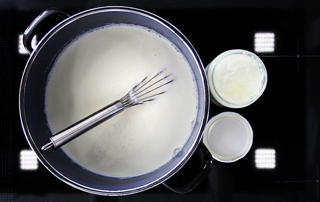 Joghurt zugeben